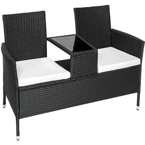 tectake Poly rattan garden bench with table Duo Sofahttp://images.pricerunner.com/product/300x300/1757843265/tectake-Poly-rattan-garden-bench-with-table-Duo-Sofa.jpg