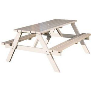 Brackenstyle Painted Durham Picnic Table - Seats 6