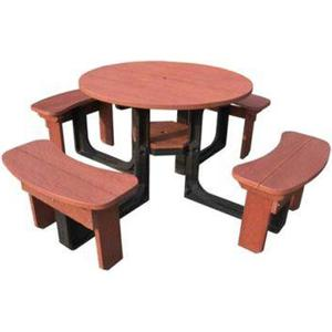 Brackenstyle Round Picnic Table - Red