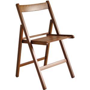 VALDOMO Folding chair: Milleusi walnut colour