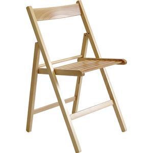 VALDOMO Folding chair: Milleusi natural colour